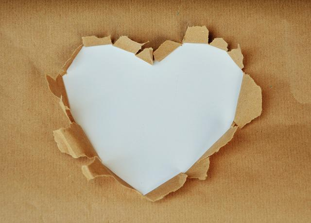 Copy Space, Heart, White Heart, Text Box, Paper