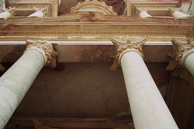 Treasury, Khazne Firaun Al, Hellenic, Corinthian