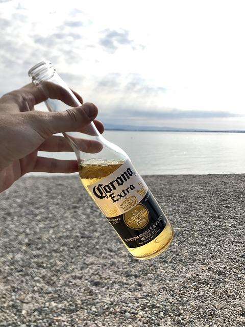Beer, Corona Extra, Beach, Lake, Lago Di Garda