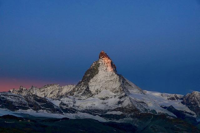 Matterhorn, Sunrise, Corona, Shining, Great, Red