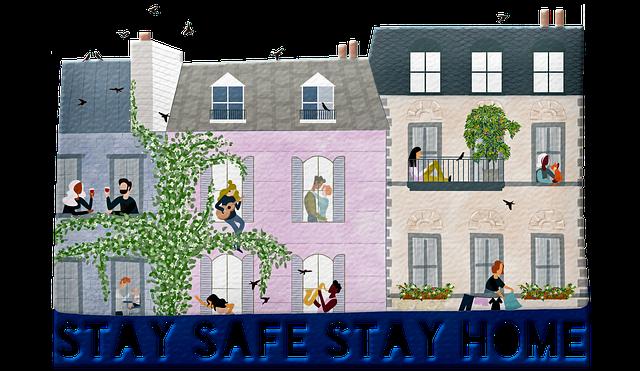 Stay Home Stay Safe, Coronavirus, Social Distance