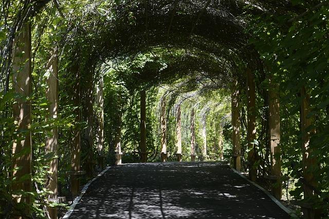 Shenyang, Botanical Garden, Corridor