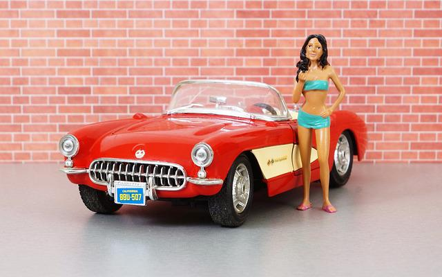 Model Car, Corvette, Corvette Stingray, Auto, Old