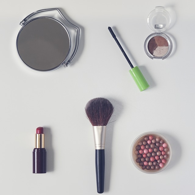 Cosmetics, Powder, Lipstick, Cosmetic Brush