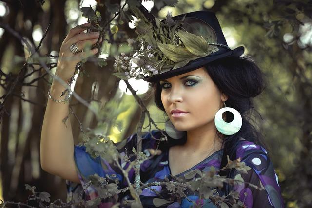 Beauty, Woman, Flowered Hat, Cap, Cosmetics, Luck