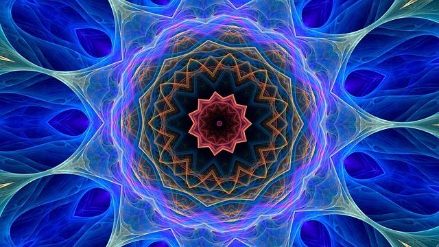 Cosmic Flower, Kaleidoscope Art, Pattern, Ornament