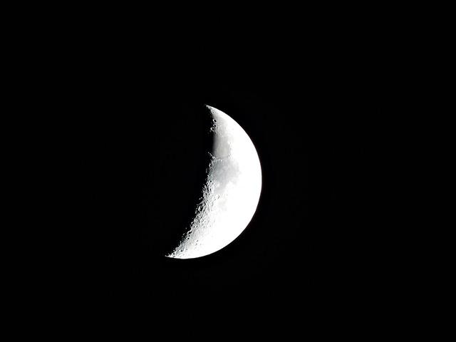 Moon, Crescent Moon, Moonlight, Astronomy, Cosmos