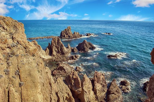 Landscape, Marine, Reef, Sea, Costa, Clouds, Sky