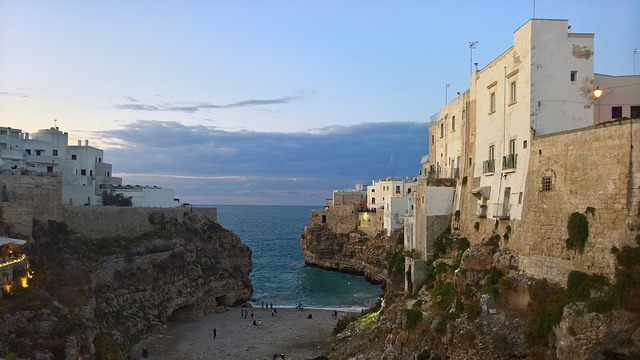 Polignano, Puglia, Glimpse, Apulia, Italy, South, Costa