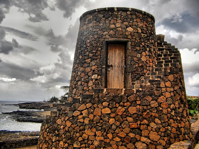 Lanzarote, Costa Teguise, Stone, Tower, Fortress