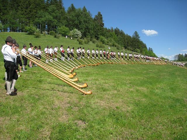 Allgäu, Alphorn, Alphorn Wind Meeting, Costume, Meadow