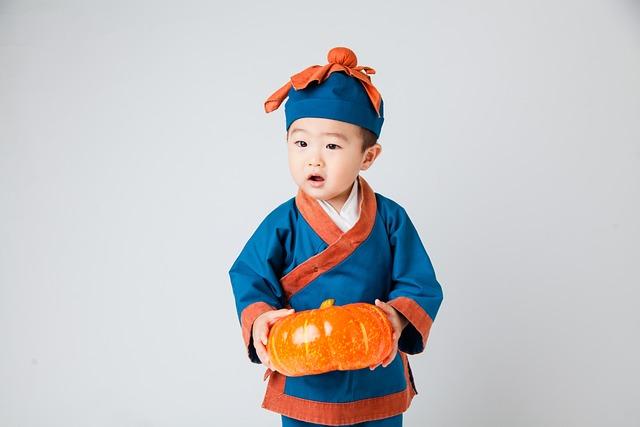 Costume Child, Cute Little Boy, Get The Pumpkin Kids