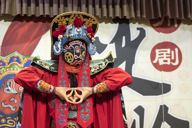 Chinese Opera, Mask, Costume, Traditional, Culture