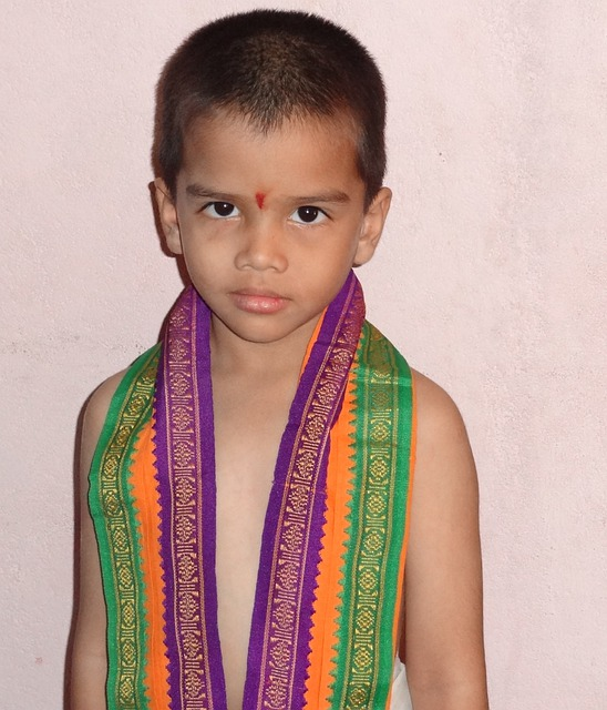 Child, Indian, Boy, Costume For Pooja, Ceremony