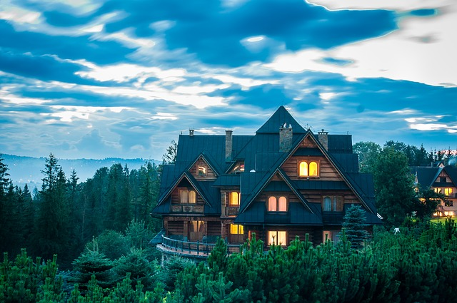 Cottage, Buried, House, Mountains, Wooden Cottage