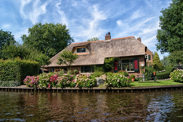 Giethoorn, Farm, House, Cottage, Village, Romance