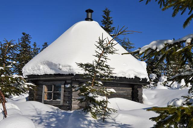 Snow, Winter, Hut, Cottage