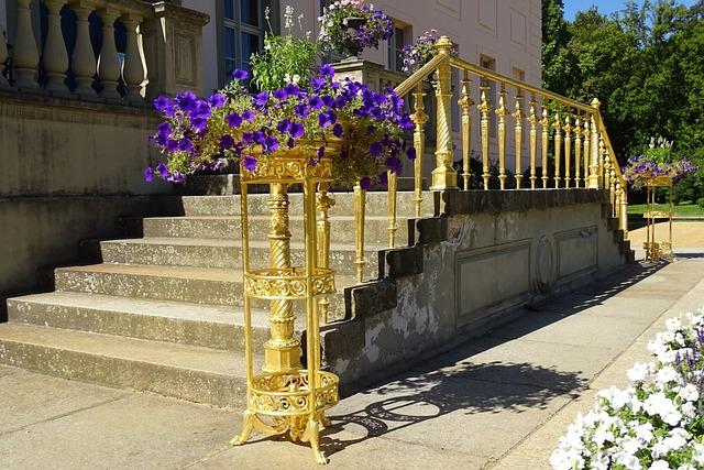 Germany, Cottbus, Branitz Park, Castle, Stairs
