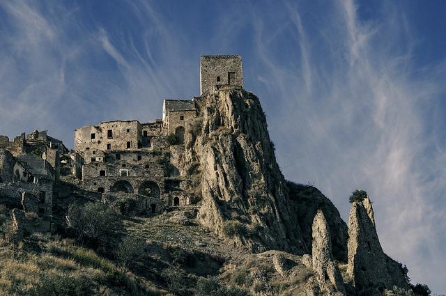 Craco, Basilicata, Country, Landscape, Borgo