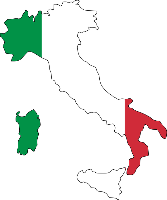 Italy, Flag, Map, Geography, Europe, Country