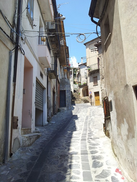 Country, Ascent, Narrow Lane, Calabria