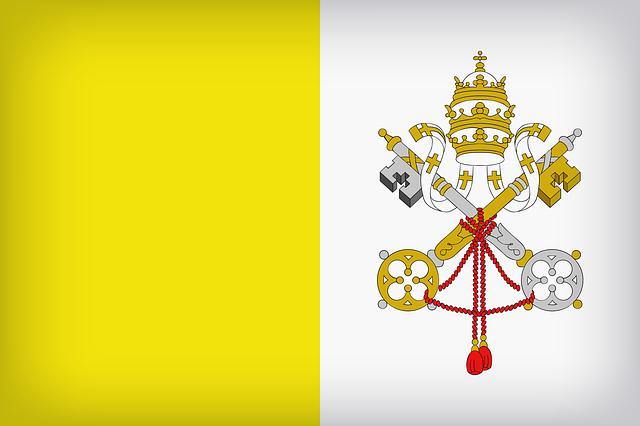 Vatican City Flag, Flag, Symbol, City, Vatican, Country