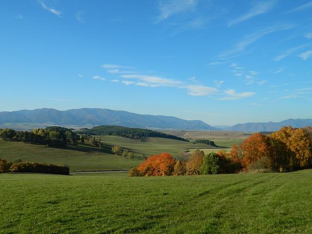 Country, Slovakia, Views, Autumn, Sun, The Sky, Turiec