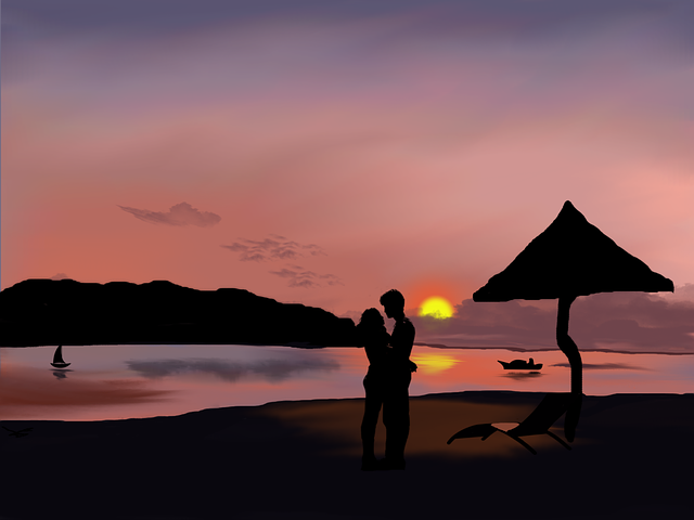 Digital Art, Artwork, Romantic, Landscape, Couple