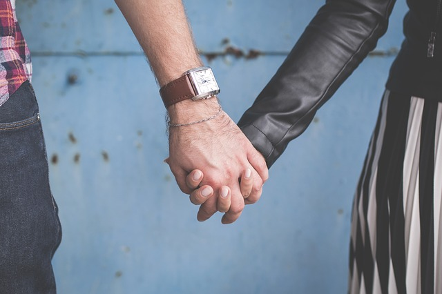 Couple, Holding Hands, Man, Woman, Hands, Entwined