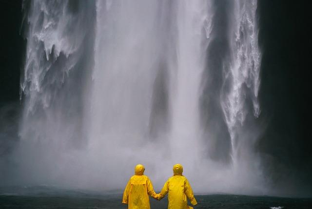Couple, Holding Hands, People, Raincoat