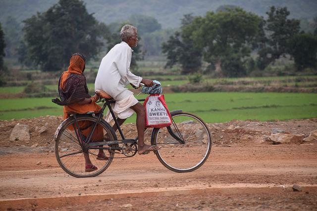 Old Couple, Bicycle, Travel, Road, Couple, Village