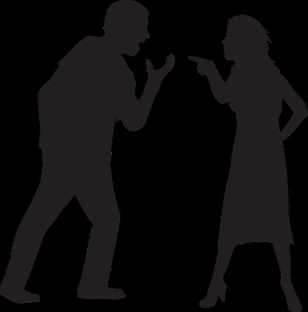 Silhouette, Couple, People Man, Woman