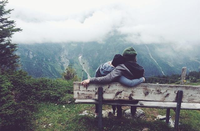Mountain, Couples, Cloud