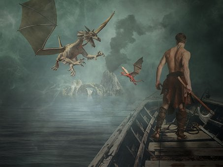 Human, Adult, Waters, Ship, Dragons, Courage, Fighter