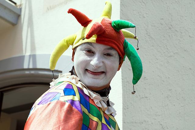 Fool, Court Jester, Clown, Funny, Portrait