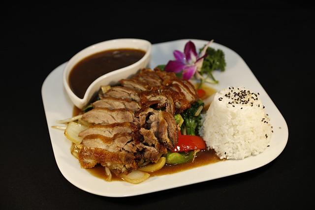 Duck, Rice, Yin Yang Restaurant, Eat, Court