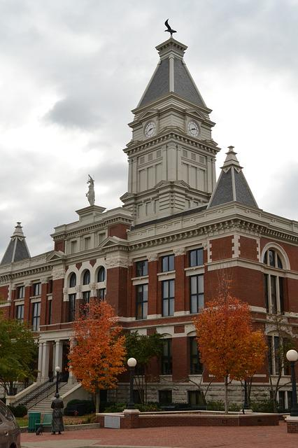 Courthouse, Historic, Fall, Architecture, Building