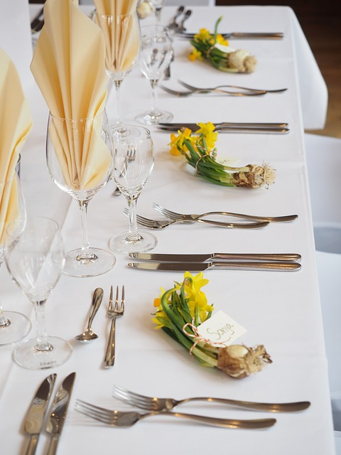 Cutlery, Cover, Decoration, Wedding Table
