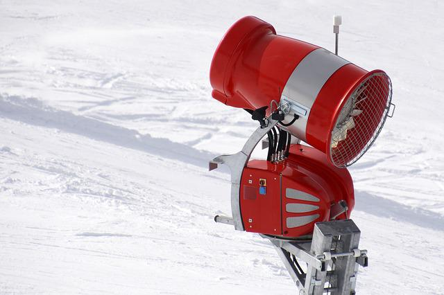 Snow Cannon, Cover With Artificial Snow, Snow Guns