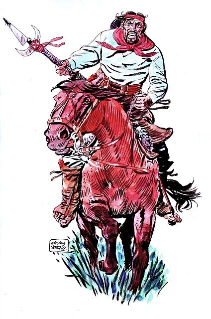 Gaucho, Jinete, Comics, Cowboy, Riding, Warrior