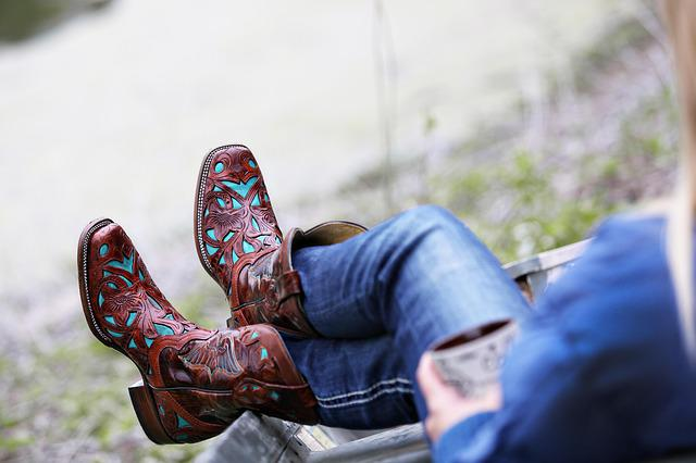 Boots, Leather Boots, Cowgirl, Country