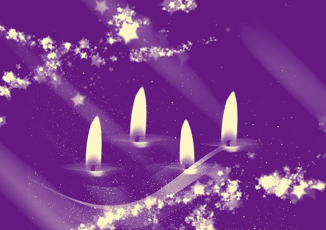 Advent, Candles, Christmas Time, Violet, Burn, Cozy