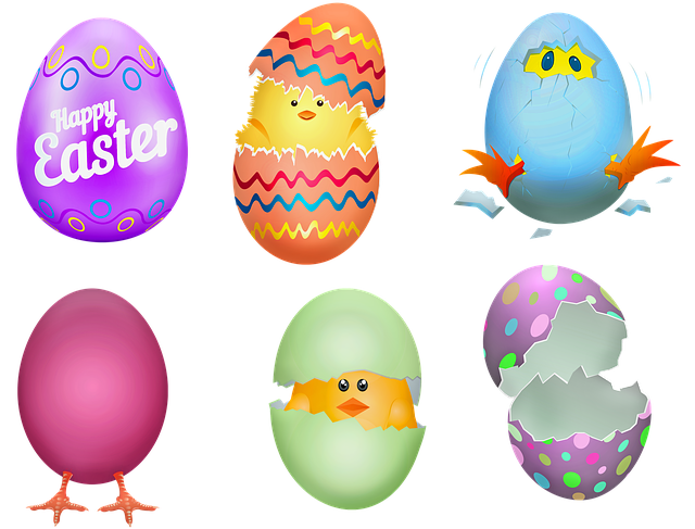 Easter Eggs, Chicks, Cracked Egg, Chicken Hatched