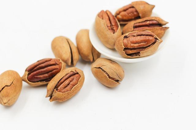 Pecans, Nut, Seeds, Cracked Open, Protein, Food, Snack