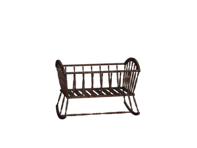 Cradle, Bed, Cot, Wooden Bed, Digital Art, Isolated