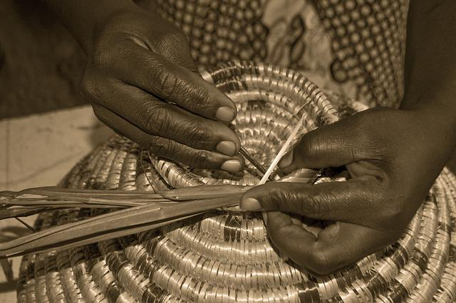 Weaving, Craft Basket, African, Handmade