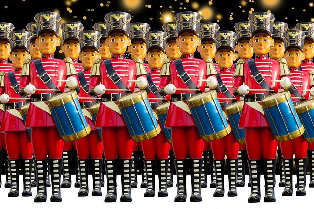 Craft, Figures, Decoration, Christmas, Drum, Soldier