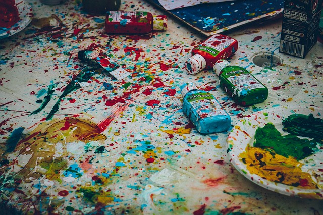 Brush, Color, Colors, Colours, Craft, Messy, Motley