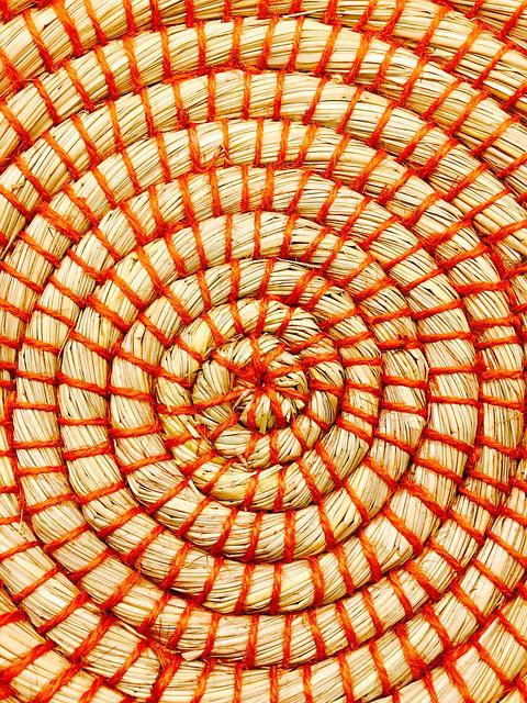 Basket, Weave, Red, Beige, Wicker, Market, Craft, Sell