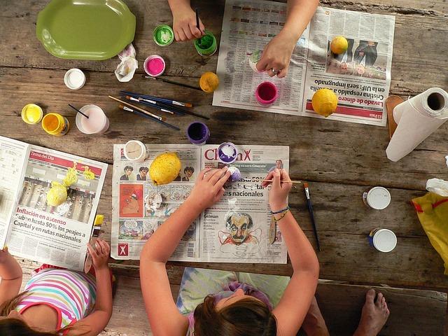 Art, Paint, Painting, Tempera, Crafts, Children, Colors